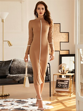 Sexy Long-sleeved Slim Mid-length Dress  NSXYA39817