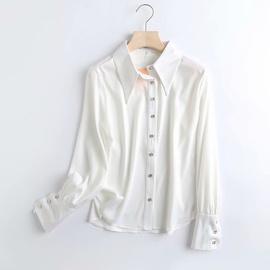 Spring Temperament Breasted Loose Shirt NSAM39830