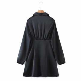 Fashion Temperament Silk Satin Texture Dress  NSAM39839