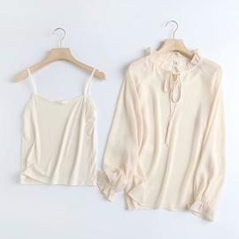 Fashion Long-sleeved Bowknot Chiffon Shirt  NSAM39844