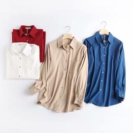 Spring Loose Design Long-sleeved Thick Shirt  NSAM39855