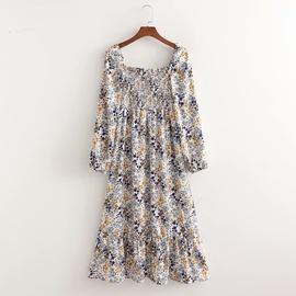 Watermark Front Slit Fashion Floral Dress NSAM39864