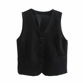 Spring V-neck Single-breasted Vest  NSAM39870