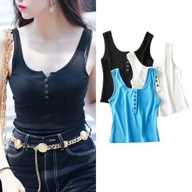 Casual Simple Solid Color Elastic Vest  NSLD39877