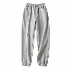 Asymmetrical Pocket Stitching Loose Sports Pants NSAC39887