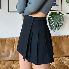 Irregular Waist Paste Adjustable Fashion Pleated Skirt NSAC39890