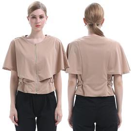 Lotus Leaf Short-sleeved Shawl Fake Two-piece Jacket NSJR39930