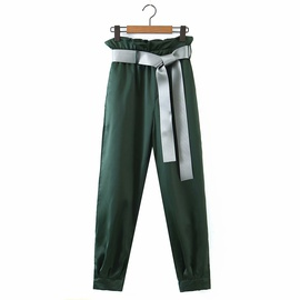 All-match Hit Color Belt Loose Pants  NSAM39853