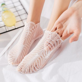 Cotton Bottom Sexy Mesh Boat Socks  NSFN40105