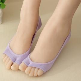 Open Toe Invisible Silicone Non-slip Fish Mouth Socks  NSFN40109