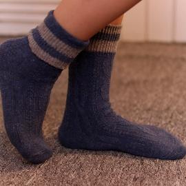 Warm Wool Double Needle Middle Tube Socks  NSFN40112