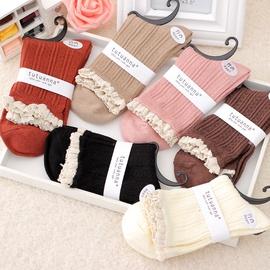 Knitted Bamboo Fiber Lace Socks  NSFN40119