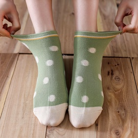 Cotton Polka Dot Short Boat Socks  NSFN40126