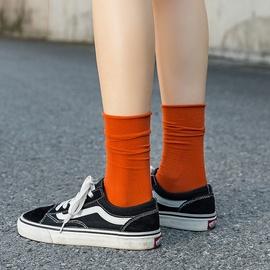 Ice Silk Velvet Solid Color Curled Pile Socks  NSFN40133