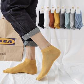 Solid Color Men's Cotton Boat Socks   NSFN40138