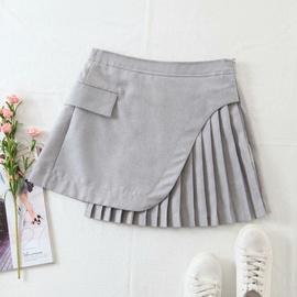 Fashion Irregular Pleated A-line Skirt  NSAM40182