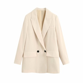 Spring Draped Casual Suit Jacket  NSAM40200