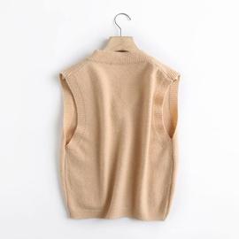 Spring Knit V-neck Waistcoat NSAM40234