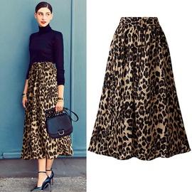 Plus Size Leopard Print Fashion Mid-length Skirt  NSYF40290