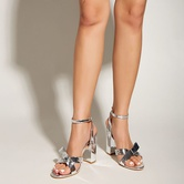 Bow-knot Buckle Thick High-heeled Sandals  NSSO40374