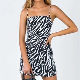 Sexy Zebra Print Suspender Dress NSAC47003