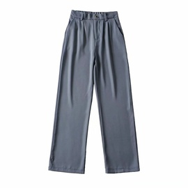 High Waist Loose Drape Straight Suit Pants NSAC47006