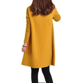 Casual Solid Color Long-sleeved Dress NSYF47025