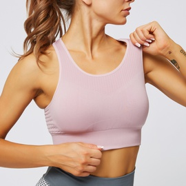 Light Support Hollowed Back Sports Bra NSNS47313