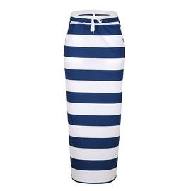 Loose Casual Printing Long Skirt  NSKX47355