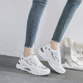 Lace Up Breathable Thick Sneakers NSNL48724