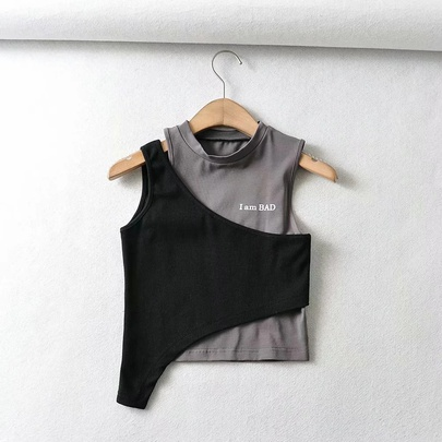 Fashion Splicing Cami Top NSAC48754