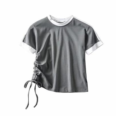 Fashion Side Waist Tie Tee NSAC48758
