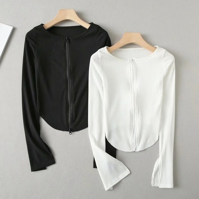 Two Side Zip Knit Cardigan NSAC48772