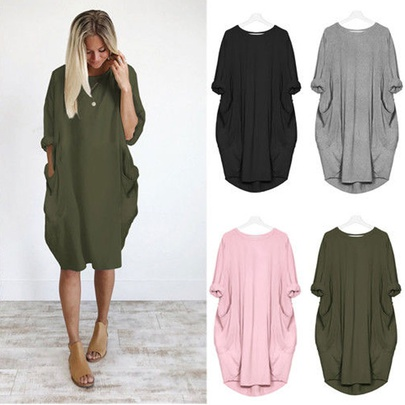 Summer New Style Loose Casual Dress In Europe And America NHJC49087