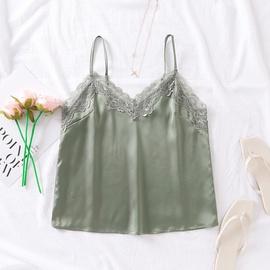 Lace Trim Silk Cami Top NSAM48895
