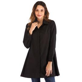 Plus Size Lapel Long-sleeved Shirt NSJR48953