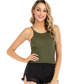 Plain color knit cami top NSYH48966
