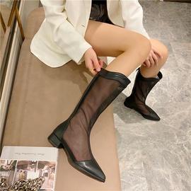 Splicing Mesh Thick Heeled Boots NSHU48995