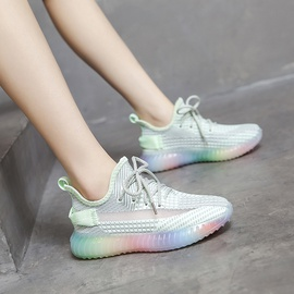 Lace Up Rainbow Sole Sneakers NSSC49027