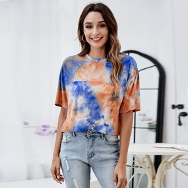Tie Dye Splicing T-shirt NSLM49063