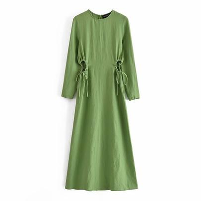 Spring Linen Dress NSAM49132