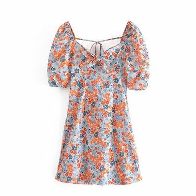 Spring Floral Print Dress NSAM49154