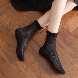 Floral Lace Socks NSFN49263