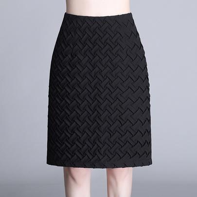 Woven Drape High Waist  Skirt NSYZ49404