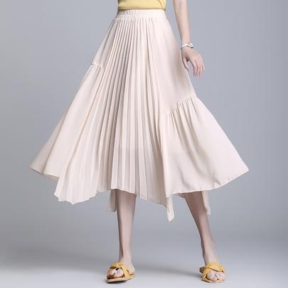 High Waist Casual Mid-length Skirt NSYZ49408