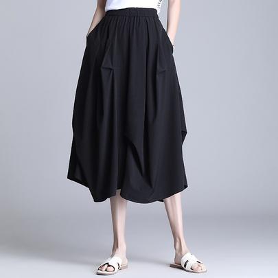 Irregular High Waist Casual Lantern Skirt NSYZ49410