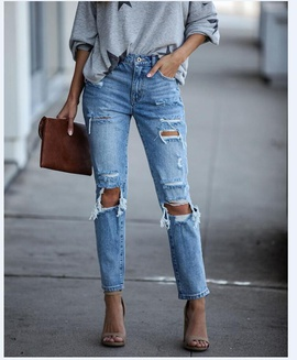 Spring New Fashion Ripped Jeans NSYF49495