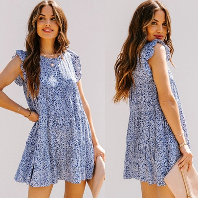 Summer New Round Neck Printed Dress  NSYD49503
