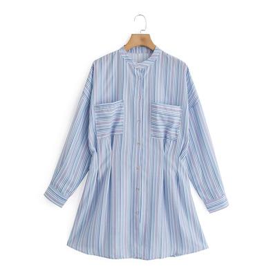 New Striped Shirt Slimming Skirt  NSAM49515