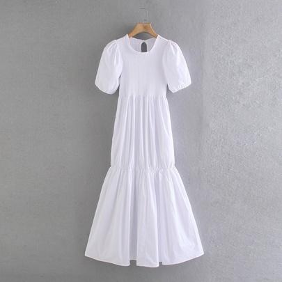 Spring New Lattice Midi Dress NSAM49519